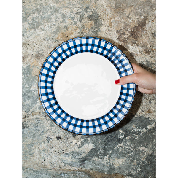 'Kate' dinner plate vichy navy