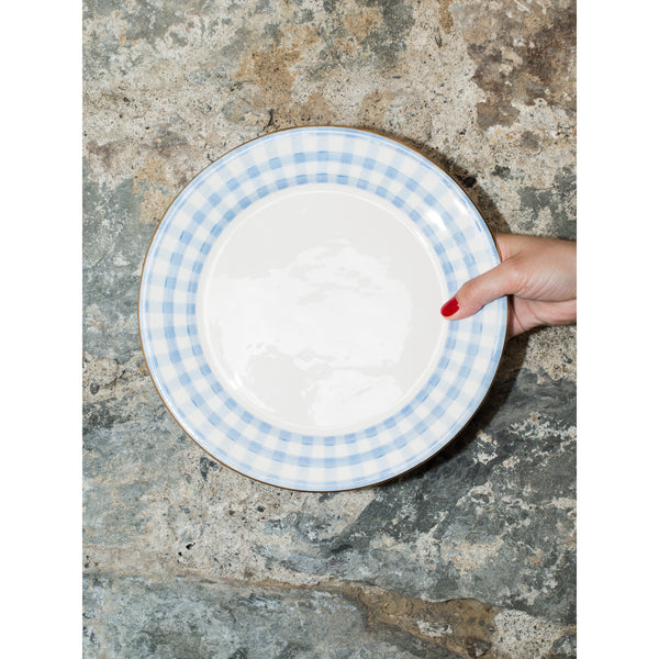 'Kate' dinner plate vichy baby blue