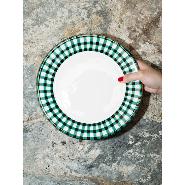 'Kate' dinner plate vichy green