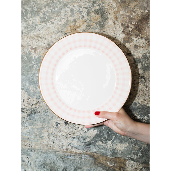 'Kate' dinner plate vichy pink
