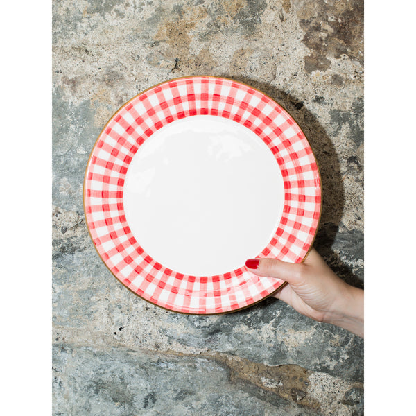 'Kate' dinner plate vichy red