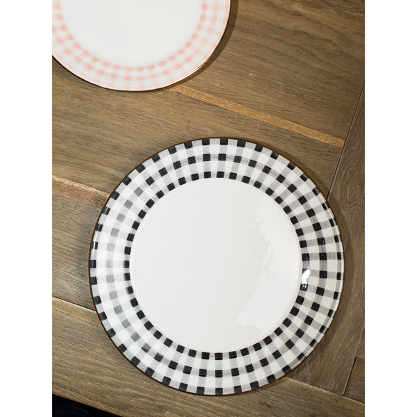 'Kate' dinner plate vichy black
