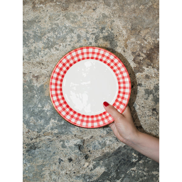 'Kate' breakfast plate vichy red