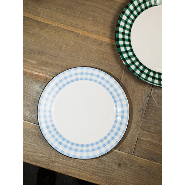 'Kate' breakfast plate vichy baby blue