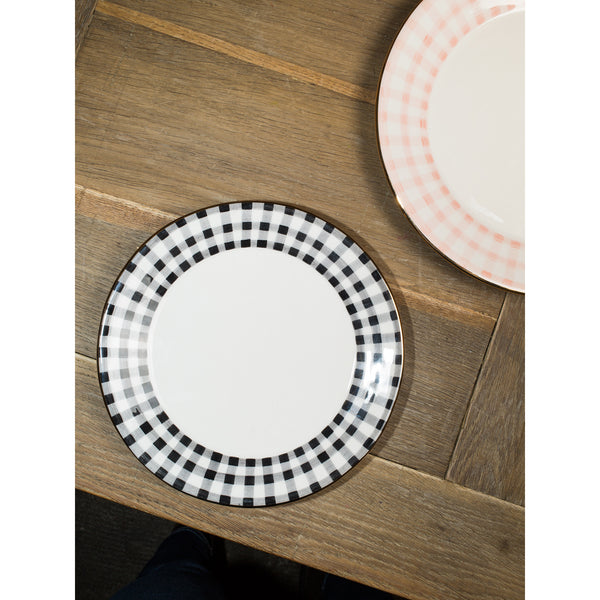 'Kate' breakfast plate vichy black