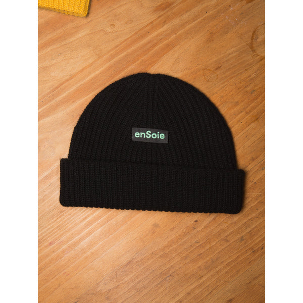 'Sailor' beanie hat black