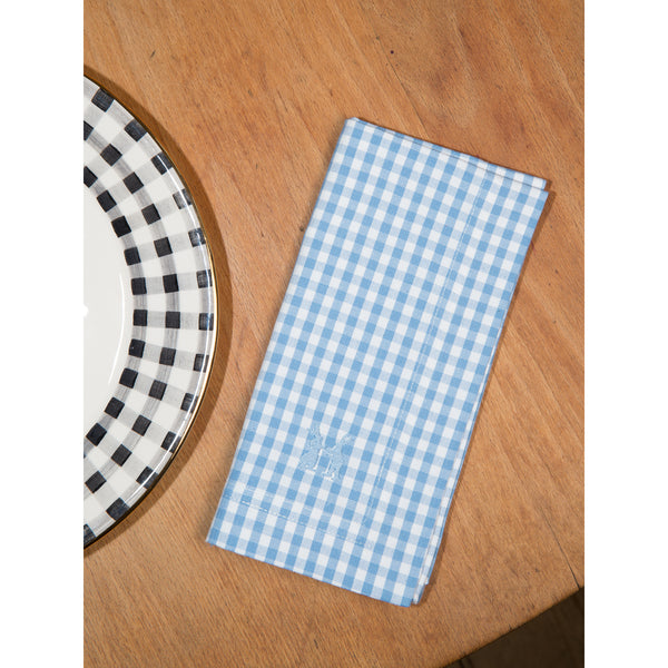 Napkin Vichy light blue 5x5mm