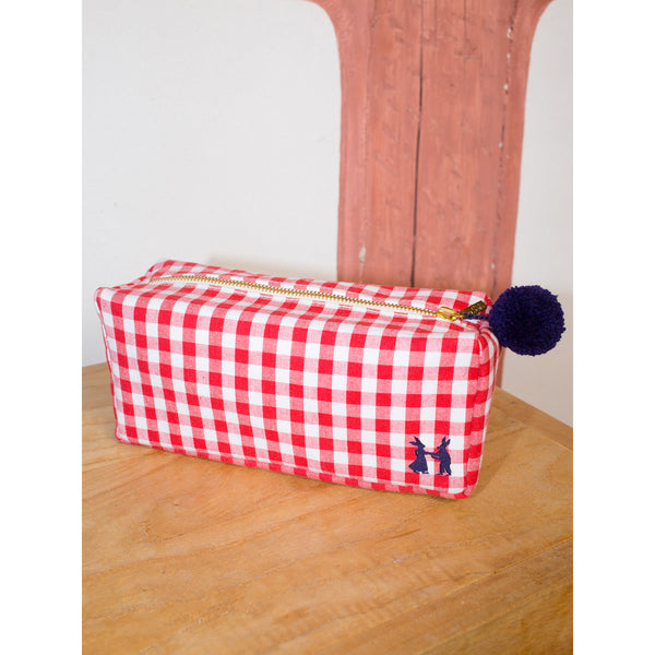 'Linda' toiletry cases vichy red