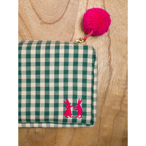 'Linda' toiletry cases vichy green