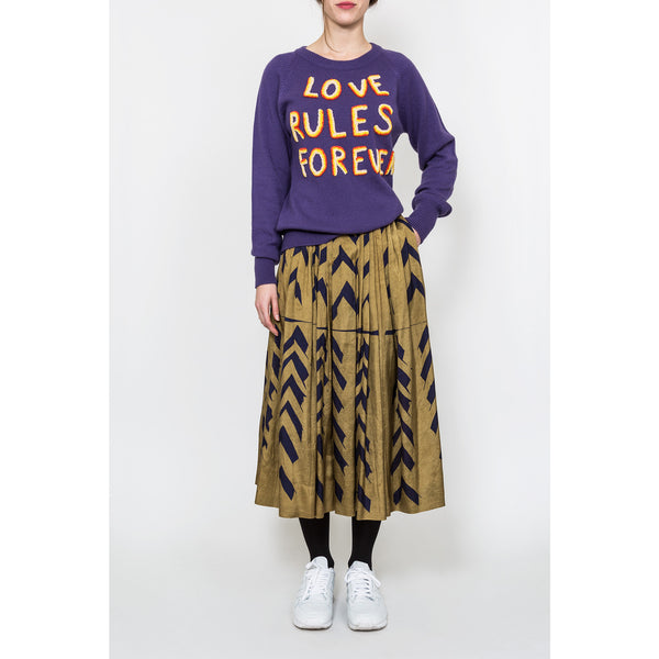 'Love Rules Forever' sweater purple