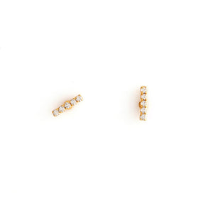 Load image into Gallery viewer, Layla Gold Clear Earrings