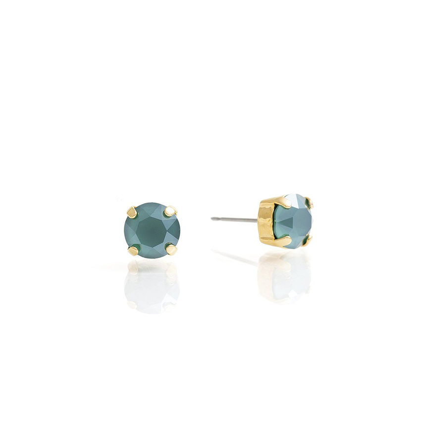 Load image into Gallery viewer, SPIKE Earrings Green-Gold