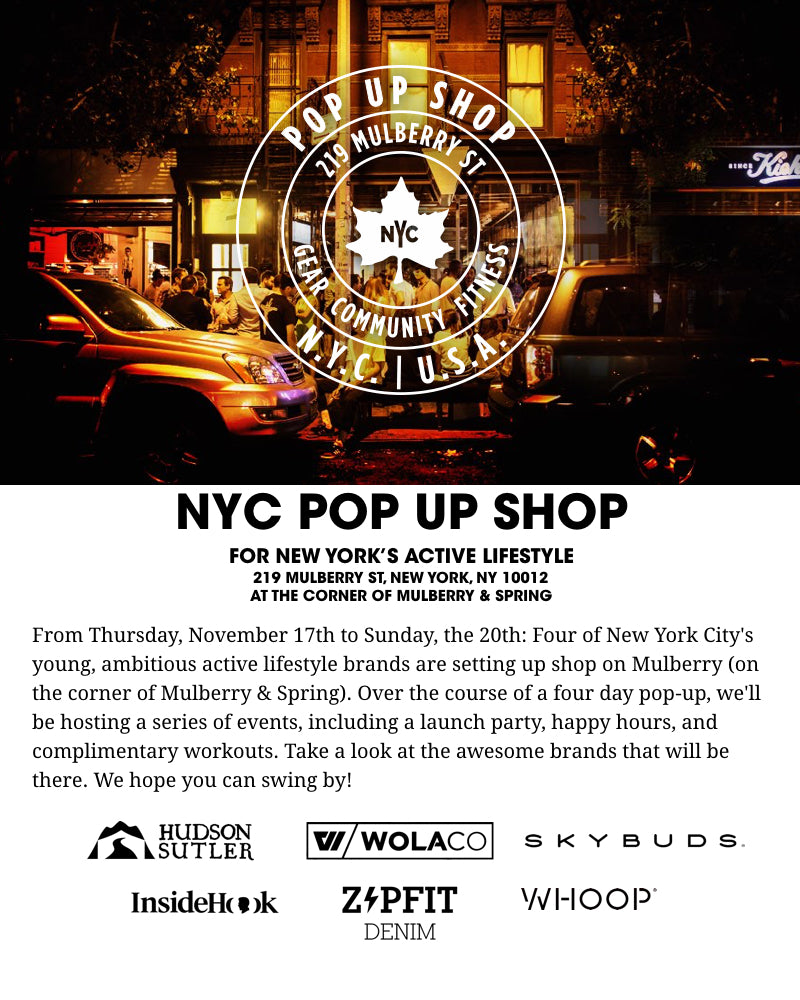 NYC Pop Up Event