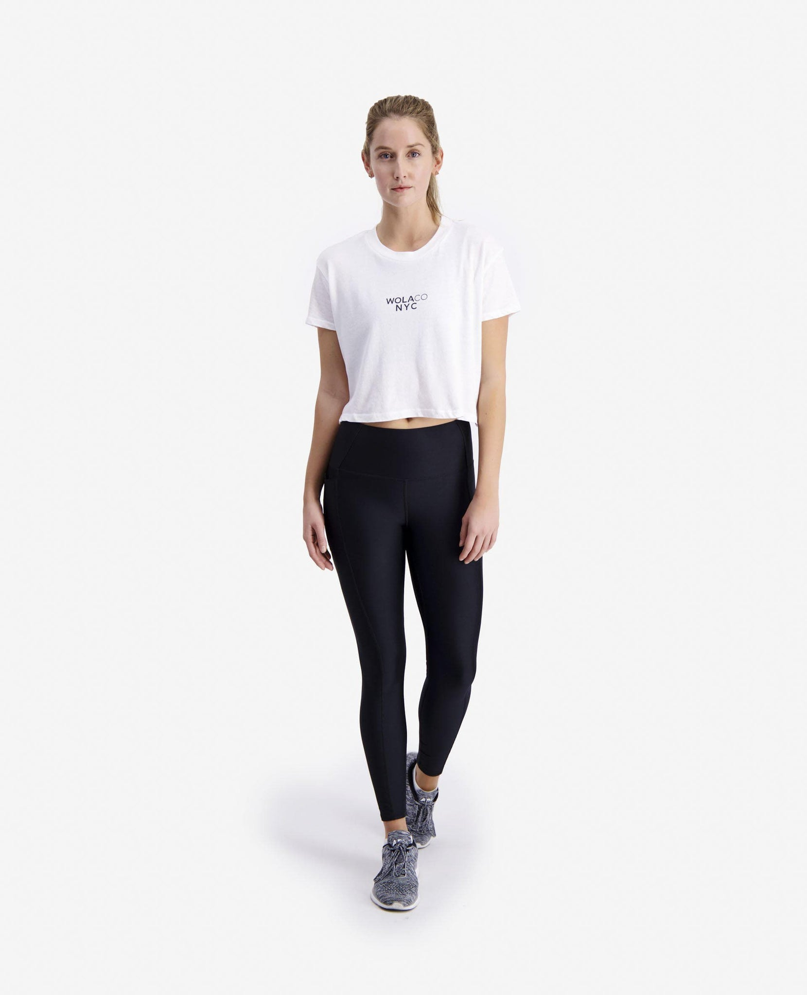 WOMEN NEW YORK CITY CROPPED TEE