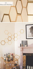 Washi - wall art - honey comb
