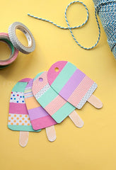 Washi - inpakken - gift tags - ice-cream