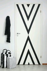 Washi - wall art - door - geometric