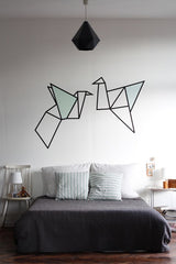 Washi - Wall art - origami birds