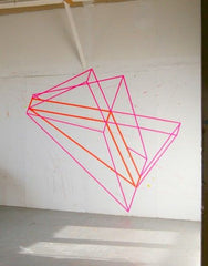 Washi - Wall art - Geometric neon