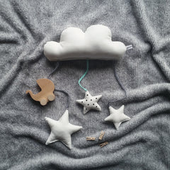 Cloud baby mobile.