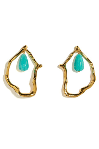 Formation Earrings in Amazonite