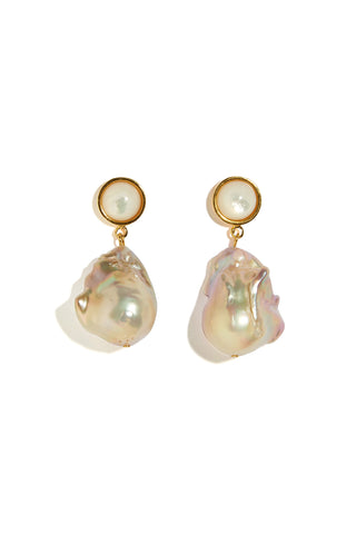 Tuxedo Baroque Pearl Earrings
