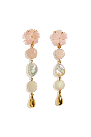 Daisy Chain Pearl Earrings