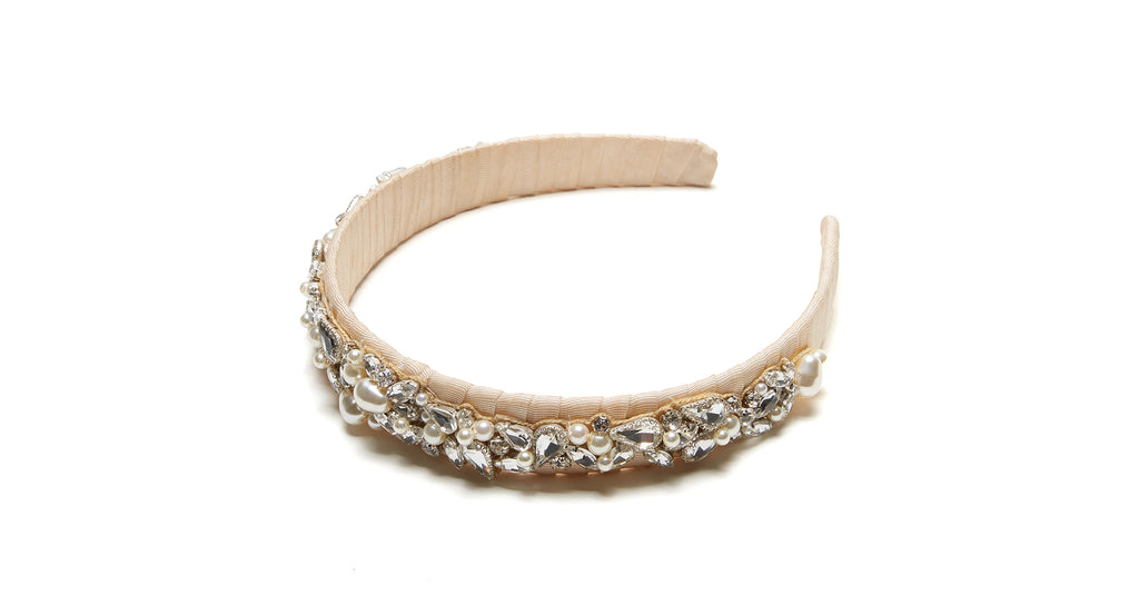 Lay-flat view of Icicle Headband. Time to shine! Put your best face forward in our special-e...