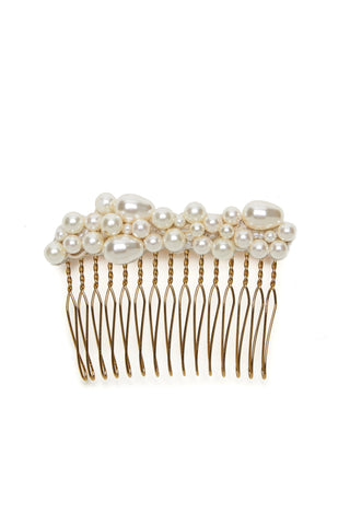 Pearl Pebble Hair Comb