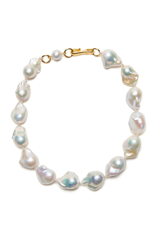 Estate Pearl Necklace In White