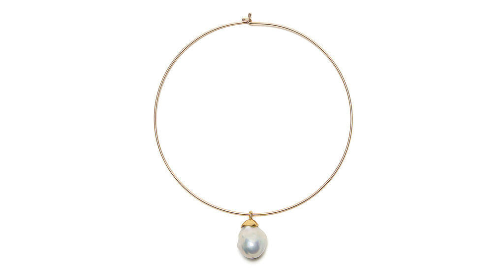 Full view of Best Lady Necklace In Pearl. For the girl who wants to streamline her style whi...