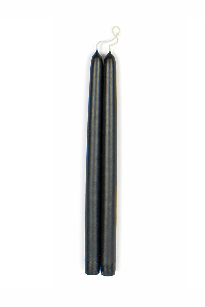 Black Taper Candle Pair