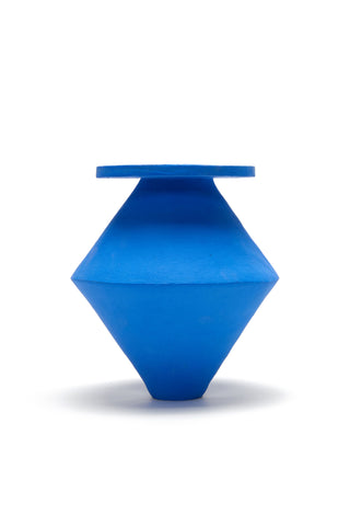 Large Diamond Vase in Klein Blue