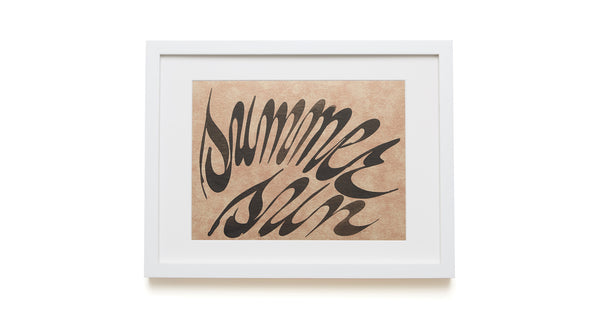 "Black ""Summer Sun"" Framed Art"