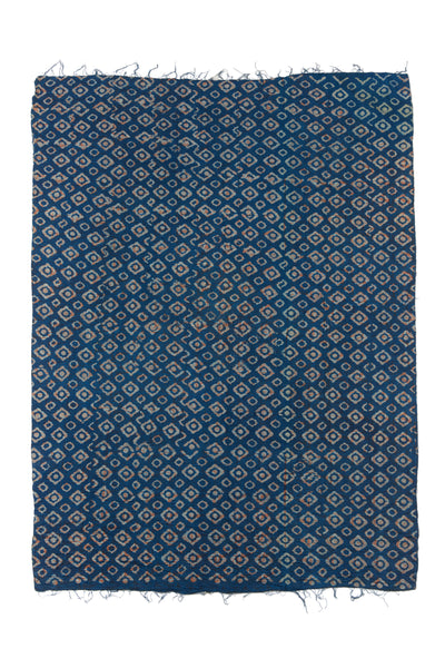 "Thumbnail of Vintage Kantha. We love the unique indigo tone of this vintage kanthan quilt from Jaipur, India. Three panels of cotton (oftentimes from saris) are hand-stitched together with fine ""kantha"" stitches."