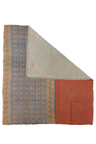 "Thumbnail of Vintage Kantha. We love the artful mix of patterns on this unique quilt. Three panels of cotton (oftentimes from saris) are hand-stitched together with fine ""kantha"" stitches to create this one-of-a-kind find."