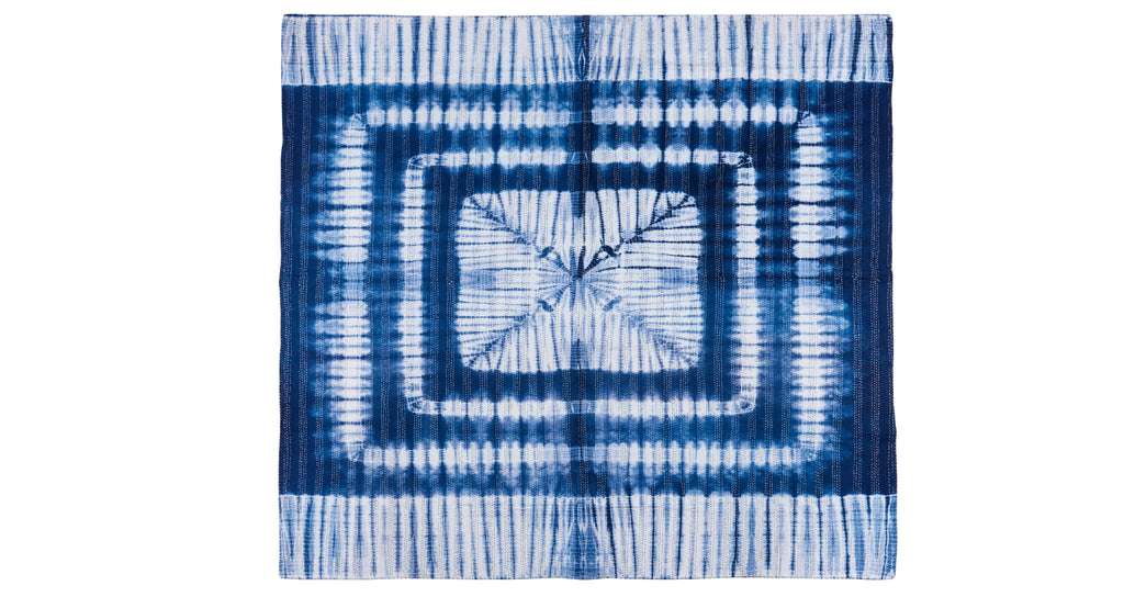 Full view of Kantha Quilt. Yes, we are crazy for this indigo tie-dye quilt, which was made w...