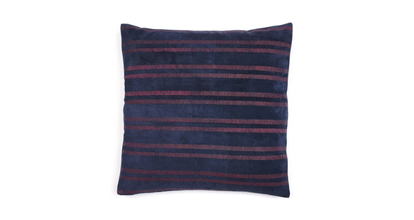 Leather Painted Stripe Pillow(zoomed out perspective of the front of the pillow)