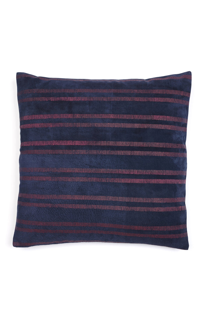 Leather Painted Stripe Pillow