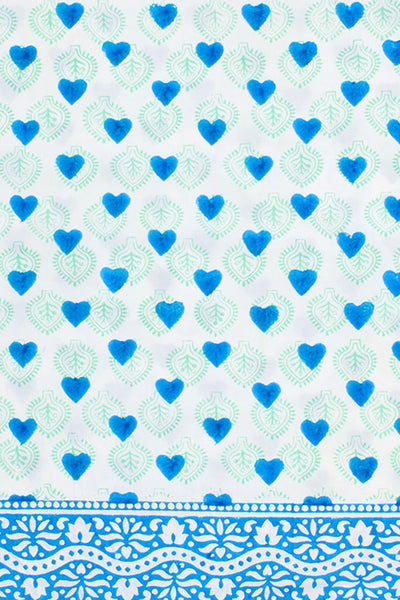 Heart Stamp Pillow Case