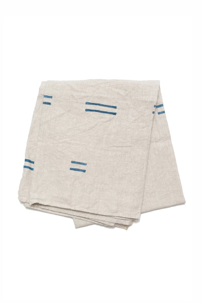Oaxaca Navy Linen Throw