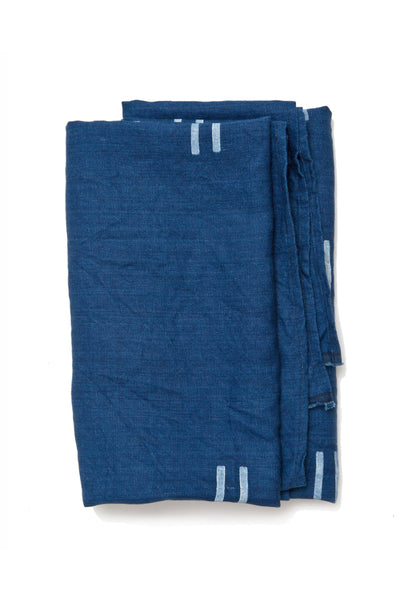 Oaxaca Indigo Linen Throw