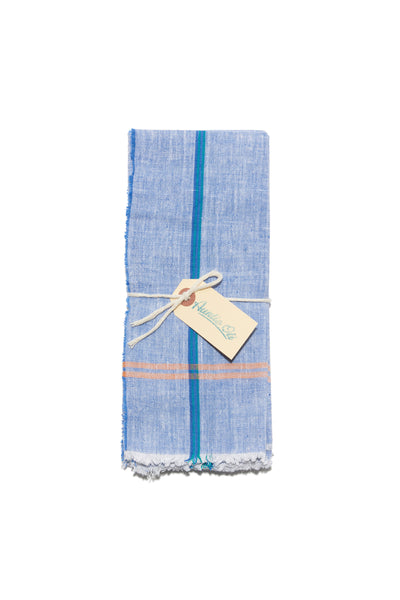 Cotton Napkin Set in Blue