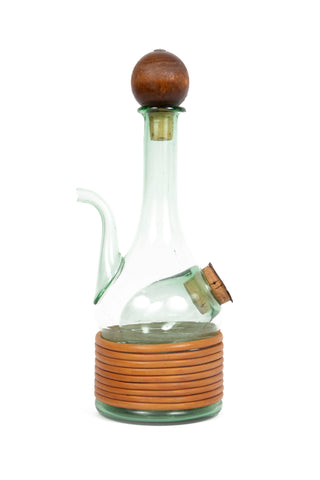Vintage Italian Green Glass Decanter