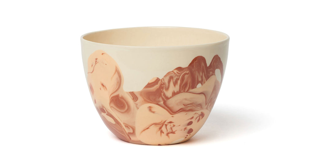 Terra Bowl in Light Peach & Sienna