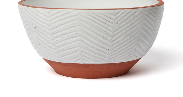 Textured Terra Cotta Bowl