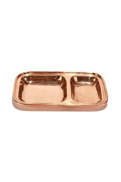 Copper Divided Dish