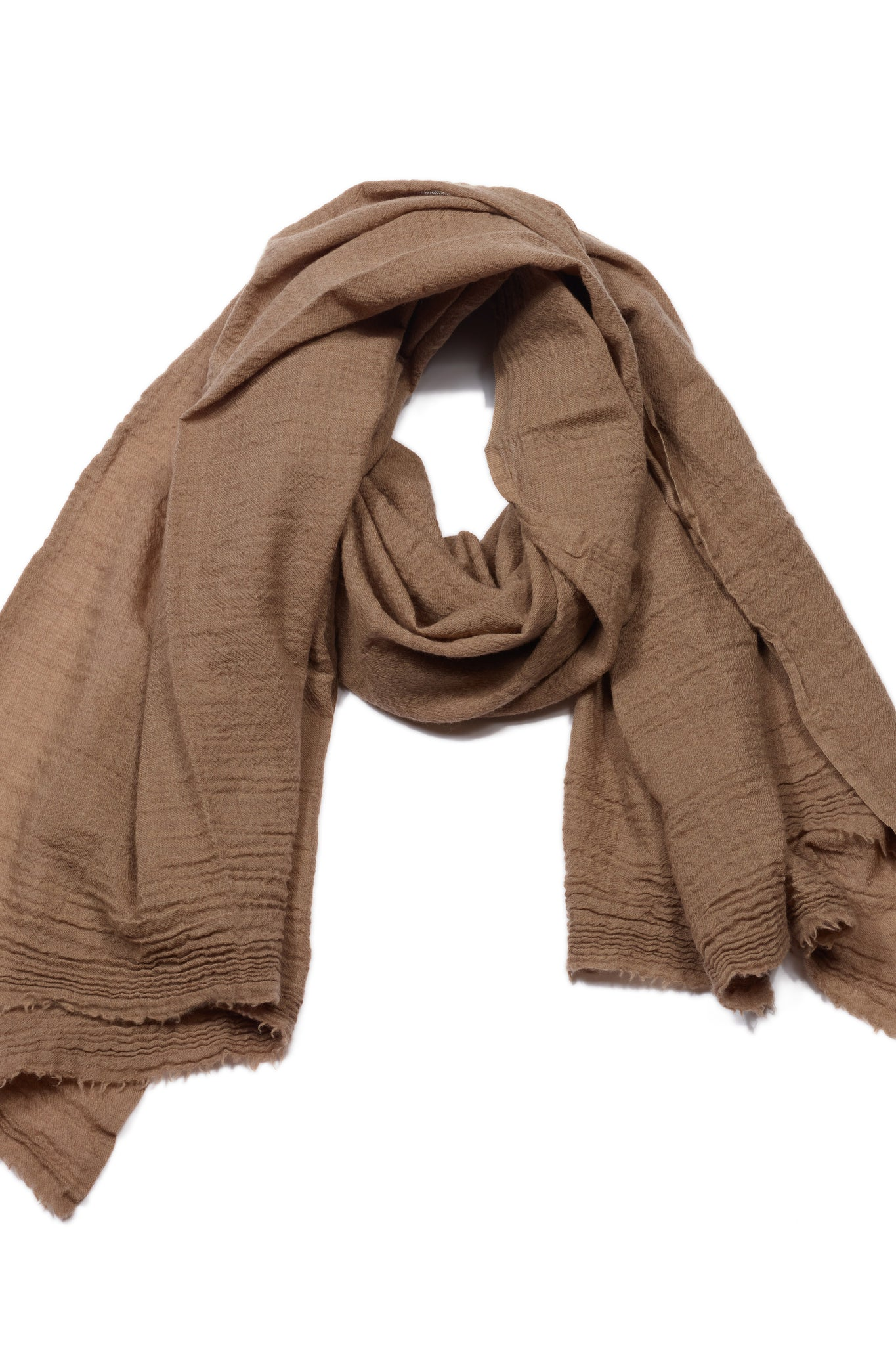 Washed Kashmir Scarf in Brown