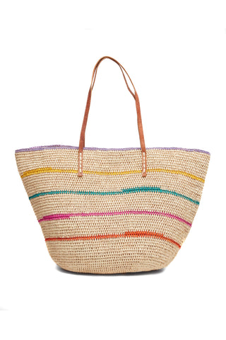 Cielo Striped Tote in Natural