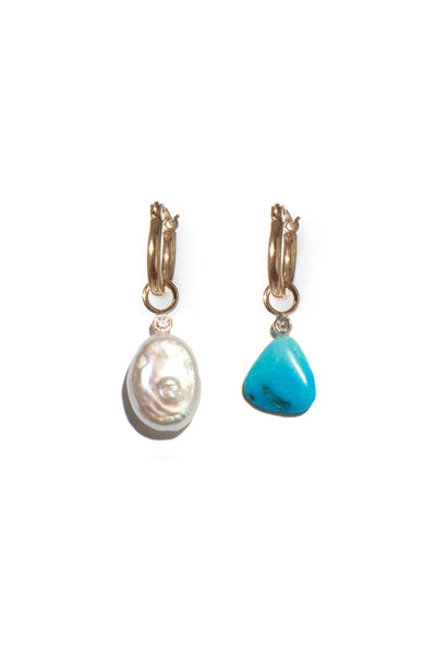 Pearl and Diamond 14k Charm